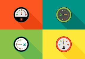 Vettore colorato calibri di carburante