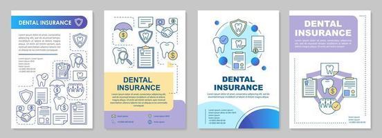 modello di brochure di assicurazione dentale vettore