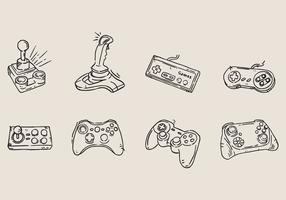 Icona del gioco arcade disegnata a mano vettore