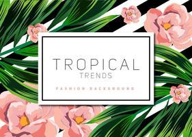 Sfondo vettoriale tropicale