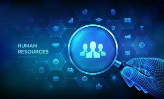 banner futuristico delle risorse umane vettore