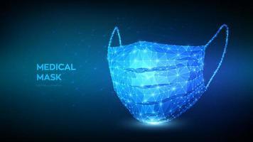 banner futuristico maschera medica vettore