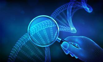 banner futuristico di concetto di ingegneria genetica con dna vettore