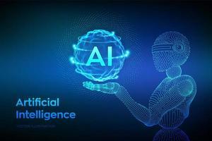 banner futuristico concetto di intelligenza artificiale