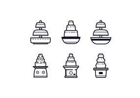 Icone di fontana di cioccolato vettore