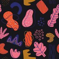 disegnati a mano varie forme e scarabocchi seamless pattern