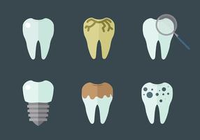 Vettore delle icone del dente
