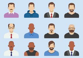 Avatar di uomini d'affari piatta vettore