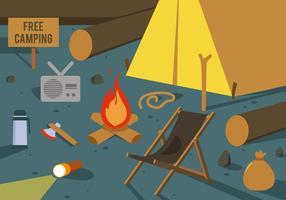 Illustrazione vettoriale di campeggio gratis