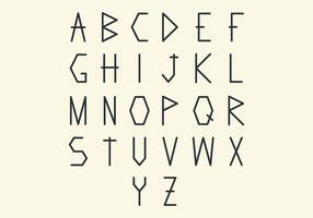 Pacchetto di vettore di lettera geometrica alla moda