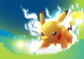 vettore di posa di lotta del pokemon