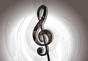 Illustrazione vettoriale chiave di notazione musicale gratis