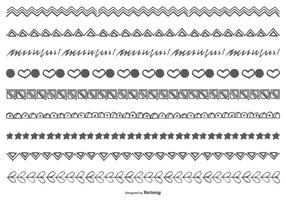 Bordi di Doodle disegnati a mano