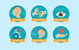 progettazione di etichette per disabili
