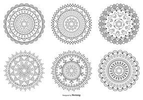 Forme di fiori astratti vettore