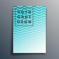 modello di copertina con linee ondulate per flyer
