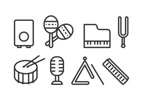 Icone di strumenti musicali gratuiti vettore