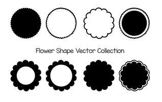 Raccolta di forme vettoriali di fiori