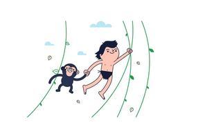 Vettore gratuito di Tarzan