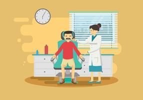 Illustrazione dolorosa del dentista