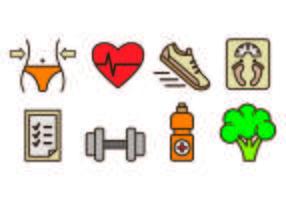 Icone di dimagrimento e salute vettore