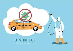 servizio taxi disinfezione da coronavirus o covid 19