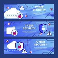 banner di sicurezza per la protezione dei dati vettore