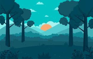 sfondo albero nella foresta al mattino