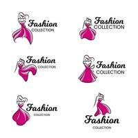 logo della boutique di moda vettore