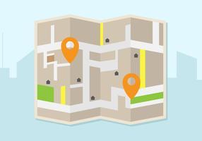 Mappa gratuita illustrazione vettoriale