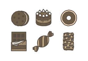 Vettori di cioccolata appetitosi
