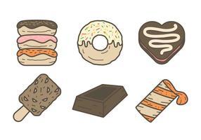 Vettori di dessert al cioccolato appetitosi