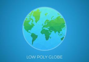 Vettore del globo del fondo di poli basso libero
