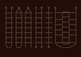 Vettori di scala di corda marrone