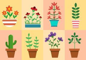 Vettore di piante e fiori