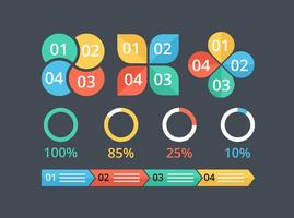 Elementi vettoriali gratis infografica