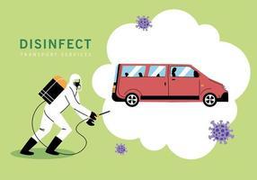 disinfezione di furgoni di servizio da coronavirus vettore