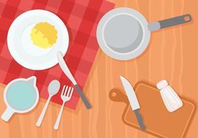 Cucina gratuita e illustrazione della cucina vettore