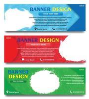 impostare banner design con vari colori
