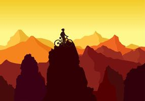 Bike Trail Peak Rock vettoriali gratis