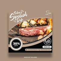 modello di banner cibo ristorante piatto speciale vettore
