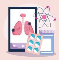 concetto di assistenza sanitaria online vettore