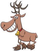 personaggio dei cartoni animati di renne vacanze di natale vettore