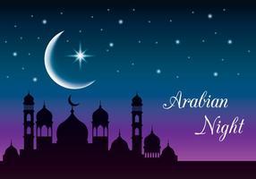 sfondo di notte araba mistica vettore