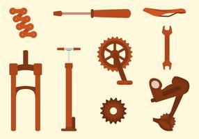 Collezione di biciclette gratuite vettore