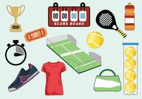 Insieme di vettore dell'icona di tennis