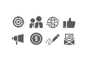 Icone di affari piatte vettore