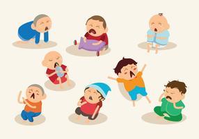 cartone animato piangendo vettore bambino