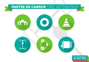 Pacchetto gratuito di vettore di Partes De Carros