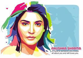 Vettore del ritratto della celebrità di Anushka Sharma Bollywood